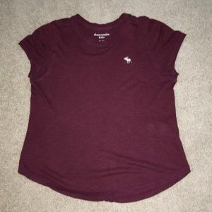 Maroon Abercrombie&Fitch T-Shirt